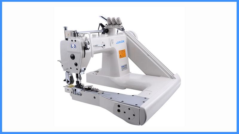 Apparel Machines JACK JKT40 Three Needle FeedOffTheArm Unique Jake Sewing Machine