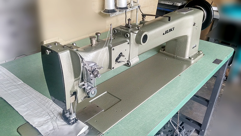 Long Arm Machines JUKI LG40 Double Needle Long Arm Walking Foot New Juki Walking Foot Sewing Machine For Sale