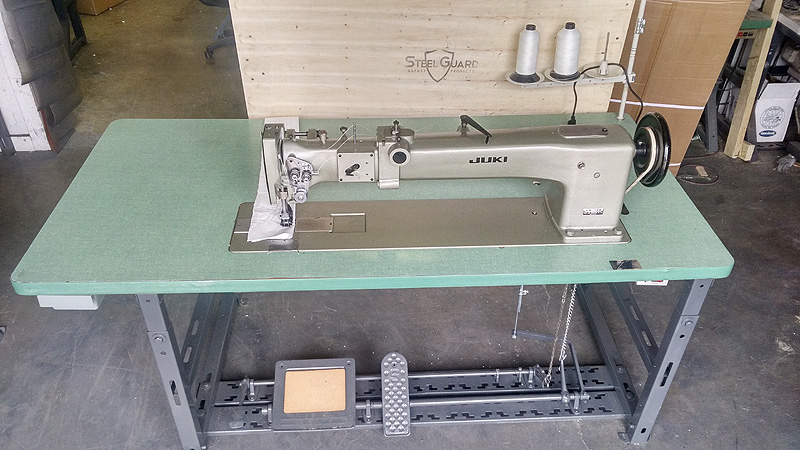 Long Arm Machines JUKI LG40 Double Needle Long Arm Walking Foot Gorgeous Commercial Sewing Machines For Sale Used