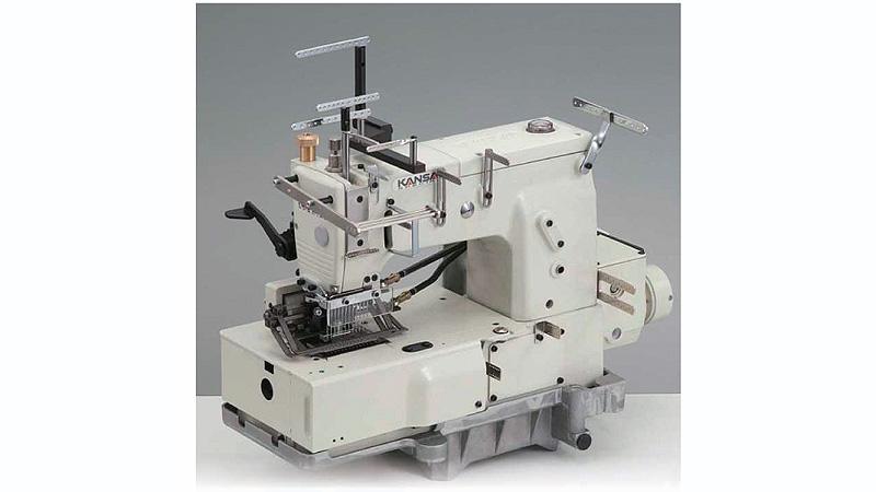 Chain Stitch Machines KANSAI SPECIAL DFB40PSSMET 40Needle Impressive Elastic Thread Sewing Machine