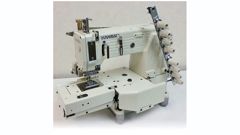 KANSAI SPECIAL FX-4404PSF Four Needle Cylinder Bed Chain Stitch Machine  with Smooth Puller for Shirt Fronting 2718a1795c8