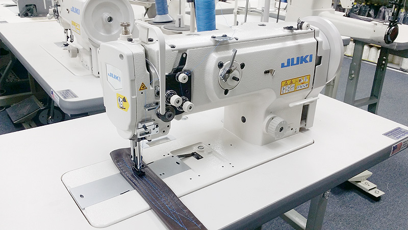 1 needle flat bed juki lu 1508n walking foot sewing machine w top load bobbin for furniture. Black Bedroom Furniture Sets. Home Design Ideas